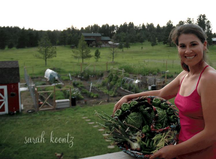 sarah with produce
