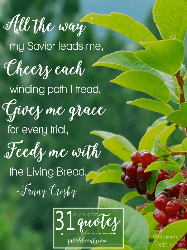 Fanny Crosby On Faith 7 Quotes In 7 Days Living By Design Ministries