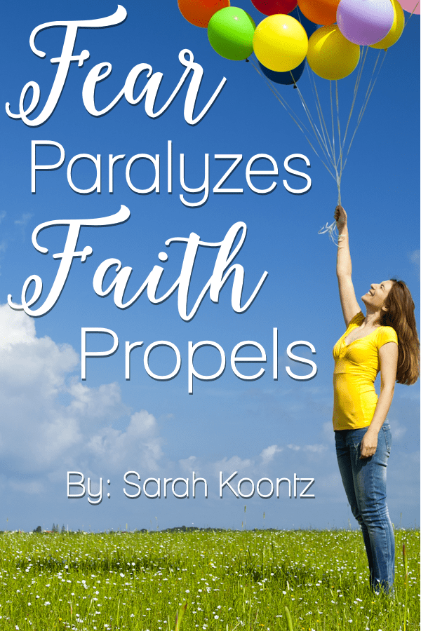 Are you allowing your faith to propel you toward the dreams that God has placed in your heart, or are you paralyzed by fear?