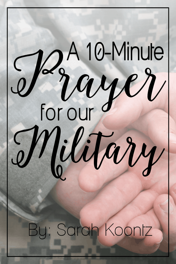 Veterans day is this week. There's never been a better time to stop and pray for our military, from the Soldiers who serve to the families they leave behind. Prayer is the beginning, but I encourage you to do something practical to say thank you to the Veterans in your life.