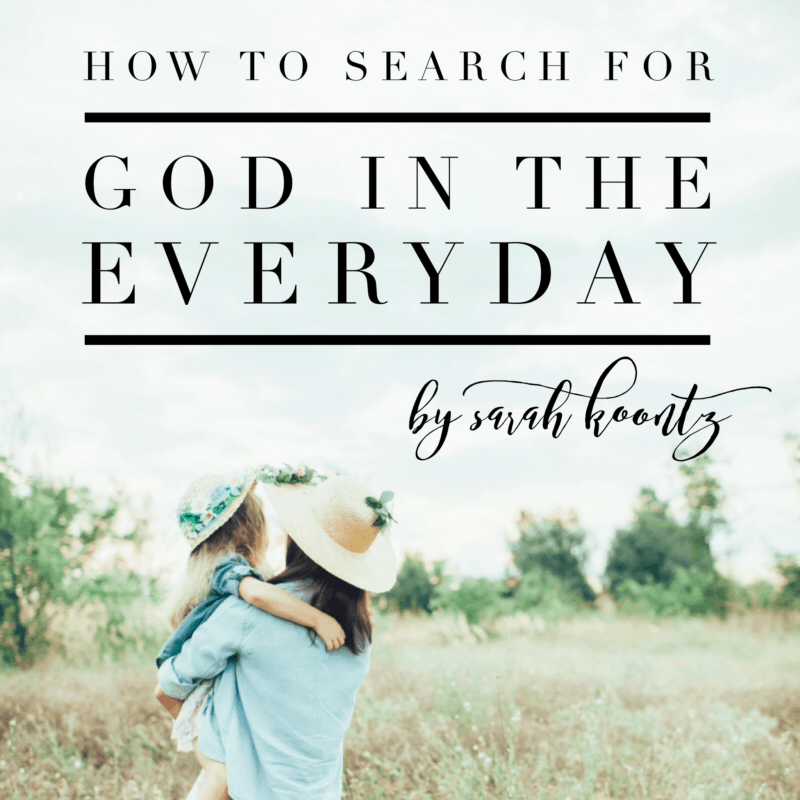 God is always there, waiting for us to seek Him. And sometimes we find Him in an anthill, of all places! I wonder what you will find when you commit to search for God in your everyday life?