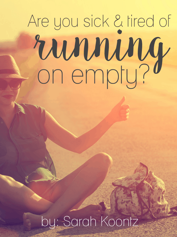 If you are sick and tired of running on empty, maybe it's time for you to ask God to reveal your own personal fuel leaks. Prayers for daily strength & for healing for women | Christian | Woman | Encouragement | Prayer | Bible | Hope | Truth