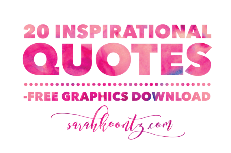 20 Inspirational Quotes Free Graphics Download Living By Design