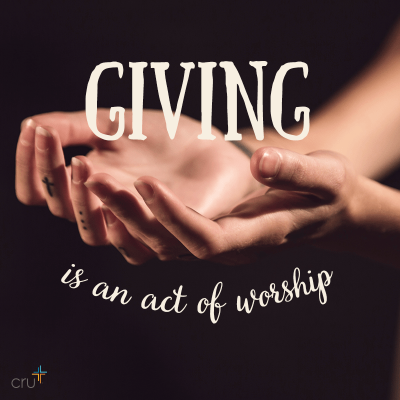 Are you ready to live out the great commission..in your home, in your relationships, in your giving? Even if you don't have the opportunity to dive into full-time ministry work, there is still so much you can do to support the great commission--right where you are! A simple first step would be to find an organization like Cru to support financially. And be sure to give generously…even if it hurts a bit! Your generosity will help ministries like Cru share the Good News of Jesus Christ in a world where absolute truth is under attack and we are the last line of defense!