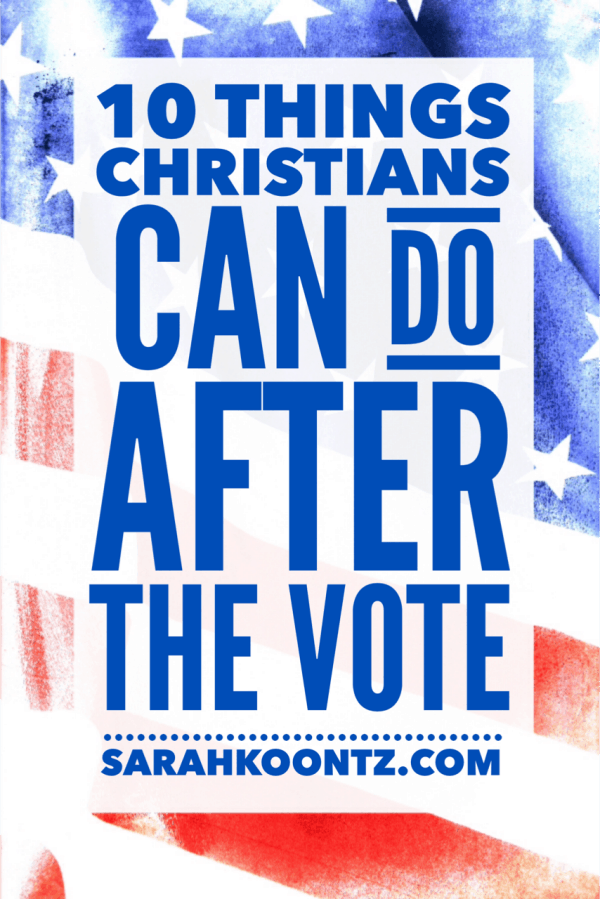 Our country is changing, but our God is the same…yesterday, today, and forever. And there is still so much that we can do, each and every day, to show the world that Our God reigns above it all!