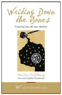 "Natalie Goldberg has written 14 books and led workshops and writers' retreats for 40 years. WOW! This book encourages writers to establish a habit of ""writing practice,"" regularly refine their writing voice, and drop below discursive thinking."