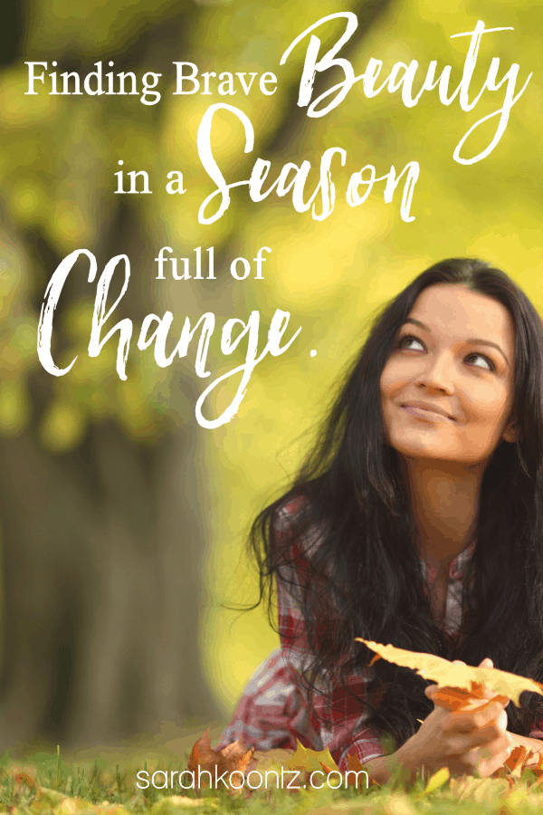 Here's a story of how one mom found brave beauty in a season full of change. | Motherhood | Christian Mom | Homeschool | Book Review | Brave Beauty | Bible Study