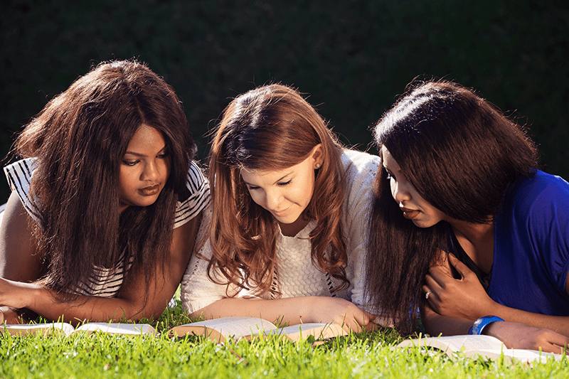 Young Women joining together for Bible Study