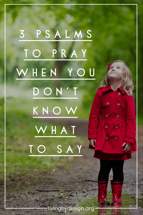 3 Psalms to Pray when You Don't Know What to Say