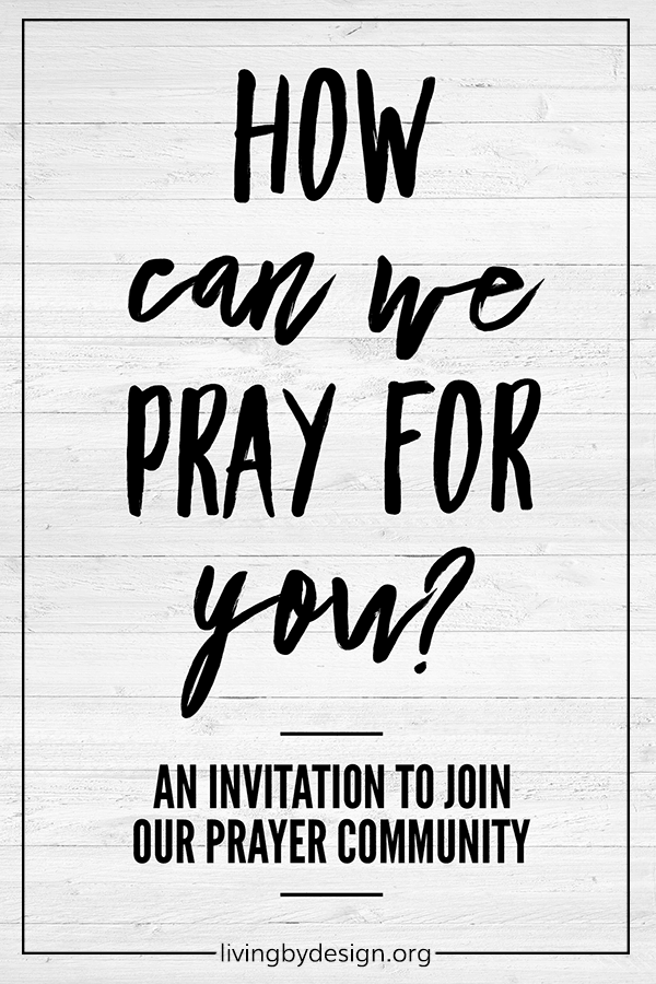 If you aren't already meeting regularly to pray with other Christians, I would encourage you to seek out a group today. If you don't have a local group to join, I'd like to invite you to participate in our online prayer community. This is a place where you can regularly share your own prayer requests, and faithfully pray for others. And you can do it all from the comfort of your own home.