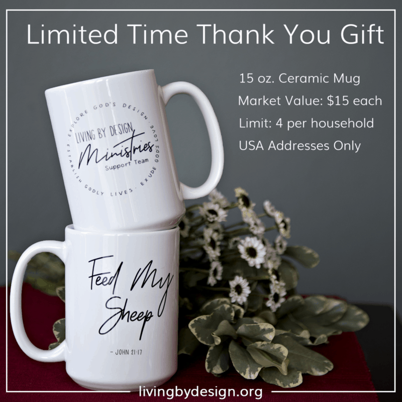 Limited time thank you gift for people who choose to take the mug on a mission challenge