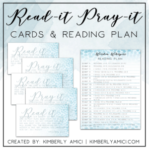 Read-It Pray-It Cards for the Free Online Bible Study of King Solomon