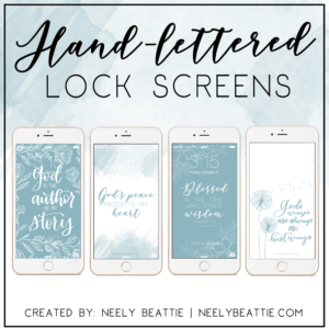 Hand-lettered lock screens for the Free Online Bible Study of King Solomon