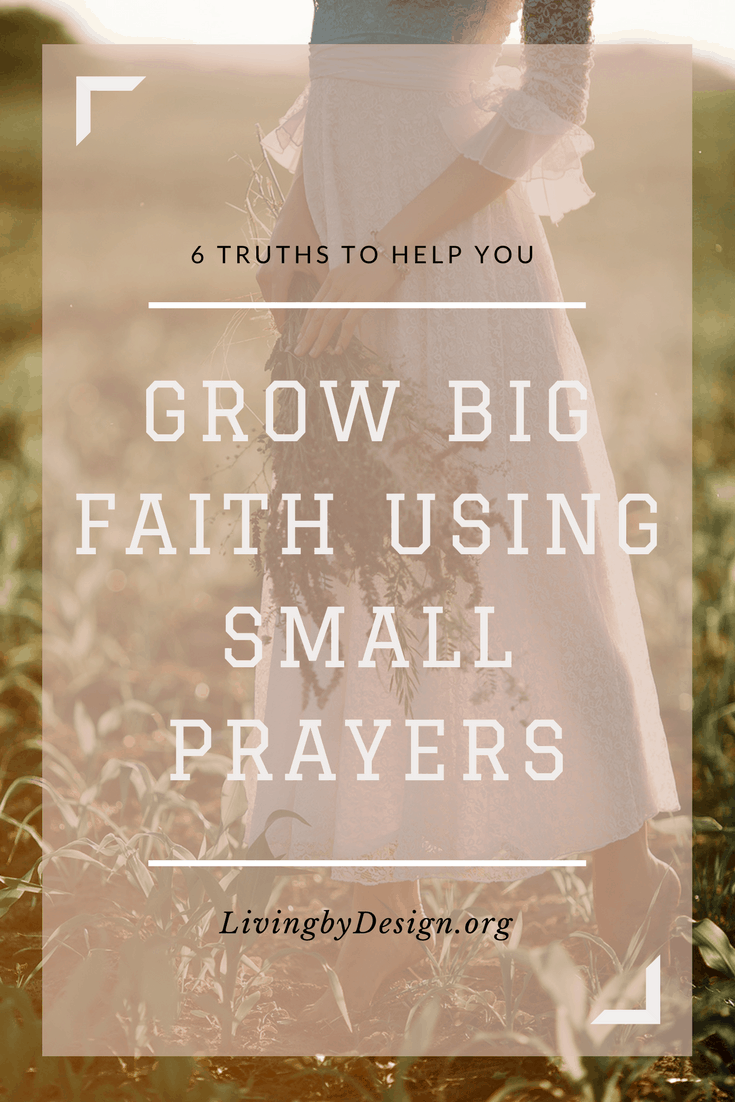 """Have you ever felt like your small prayers don't really matter? That only the big prayers count? Maybe you are like me. You grew up hearing others ask you to pray for big things. Cancer. Car wrecks. Crisis. Those prayers have heft, meaning, and purpose. Small prayers whisper the question, """"Does God really care?"""" #prayer #christianity"""