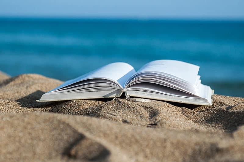 christian book on the beach