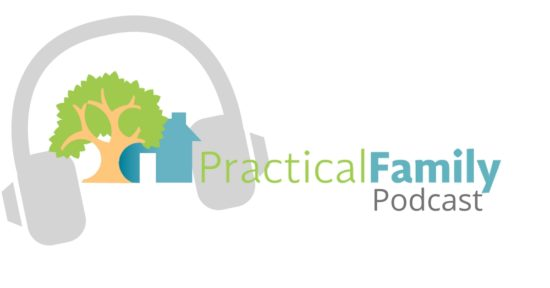 practical family podcast logo with Jennifer Bryant