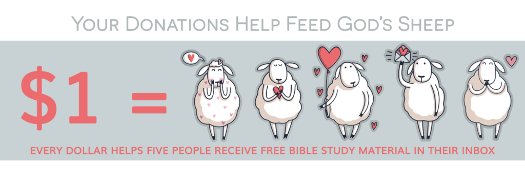 Your donations to Living by Design help feed God's sheep