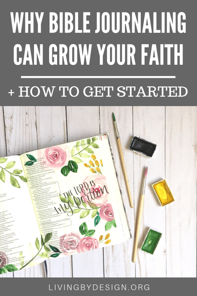 Did you know you can deepen your faith by Bible journaling? This article contains practical ways to get started-you don't need to be an artist to do it! #biblejournaling #christian #biblestudy