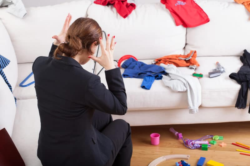 woman frustrated with her messy house   free word30 challenge