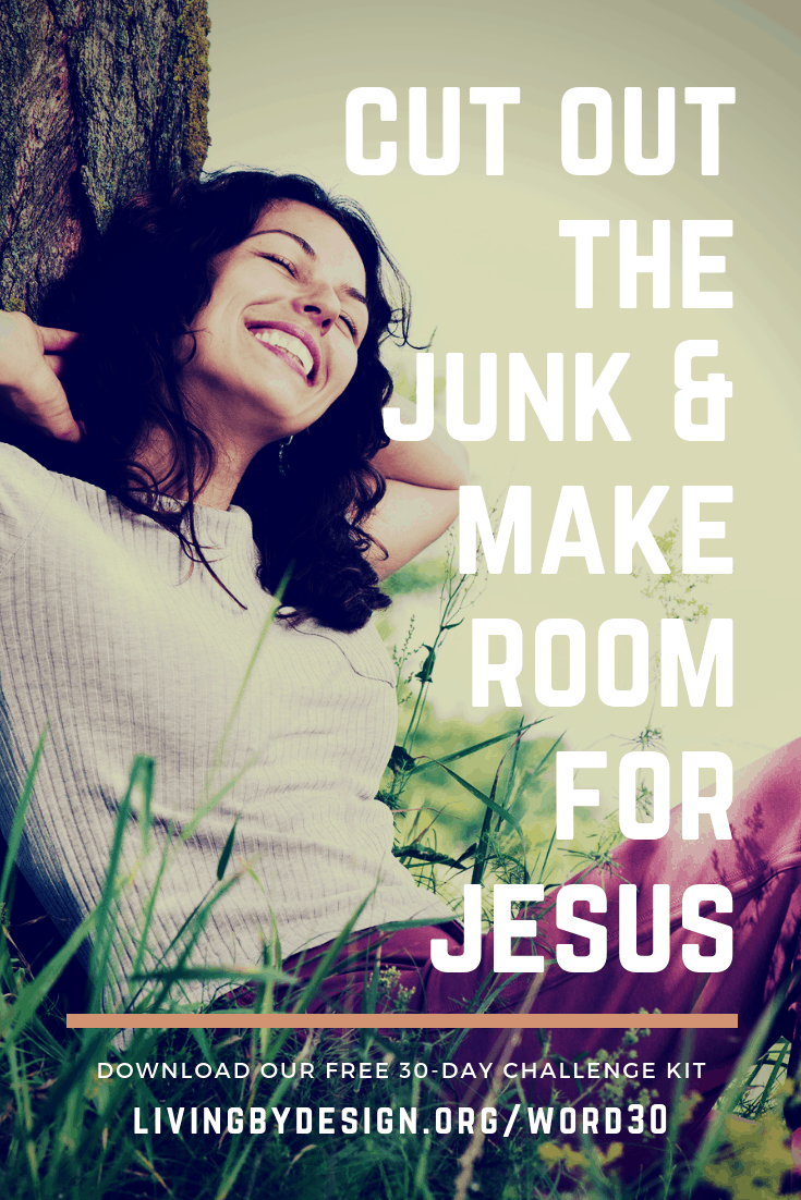 Cut Out the Junk + Make Room for Jesus with this free 30 day challenge