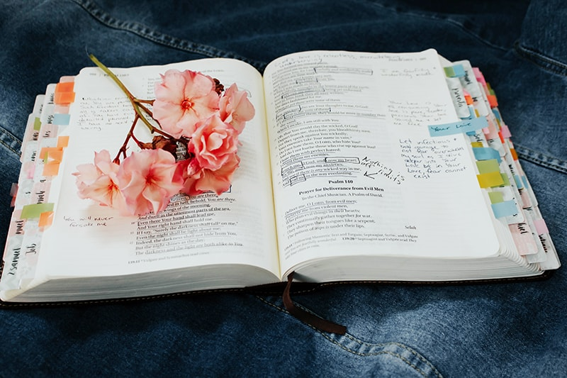 open Bible with handwritten notes - Make Room for Jesus with our Word30 Challenge