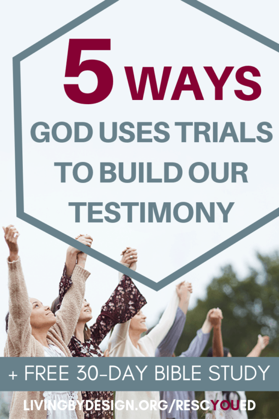 If you've ever doubted that God can use your trials to build your testimony, we invite you to join us for this free online Bible study. As we explore the stories of twenty-two different biblical characters, we will discover the many different ways God rescues his people and strengthens their faith. All you need to complete the free online Bible study is 15-minutes per day and an e-mail address. #RescYOUedStudy #Christian #BibleStudy