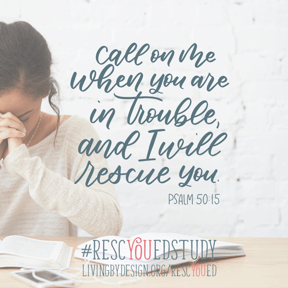 "Free Online Bible Study. You are Invited to Join Us for this Free 30-Day Bible Study on God's divine rescue plan for His people, entitled ""RescYOUed"". 