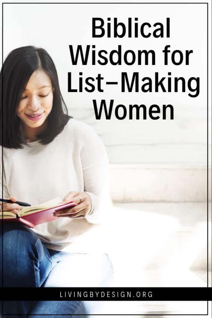Are you a planner? A woman who simply loves to schedule things and create order? As a planner woman, your love of order came from God, but did you know that the desire to control your life did not? Gleniece Lytle shares advice for the list-making woman on how to not allow your plans to become an idol.