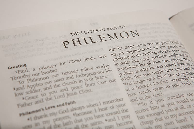 Bible open to the letter of Paul to Philemon | An Overview of Paul's Epistle to Philemon