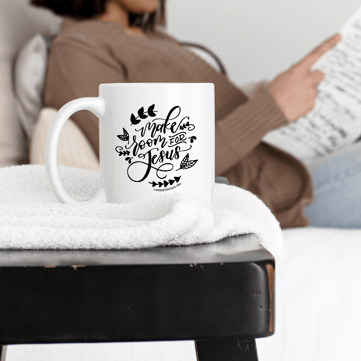 Mug on a Mission Fundraiser for Living by Design Ministries | Make Room for Jesus Mug