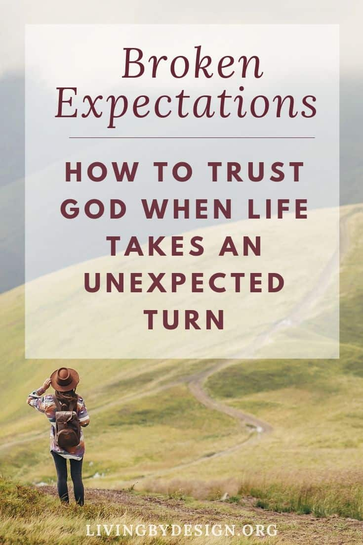 Many of us begin grappling with God for the right to control our lives at a young age. We fill our minds full of unfounded expectations and baseless assumptions of what our lives should look like. Then, when our dream life fails to materialize, our hearts are filled with disappointment and we question and blame God. Here are 3 simple steps to help you trust God in the midst of broken expectations and discover the peace that passes all understanding.