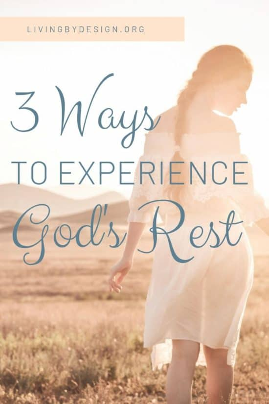 Rest is a gift from God, but also a decision we can choose to make. Learn three ways you can move away from thoughts that are creating stress and restlessness and let go of burdens and trials that are keeping you from experiencing God's rest.