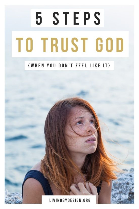 5 Steps to Trust God {When You Dont Feel Like It} | We all long to trust God with every fiber of our being, but often find ourselves instead clinging to what we can see and touch rather than a God we can't. Niki shares how over time, she discovered that she simply needed to be willing to make that choice. When we trust God it's not about us and what we can do, but about Him and what He can do. Here are five steps to help you trust God, especially when you don't feel like it.
