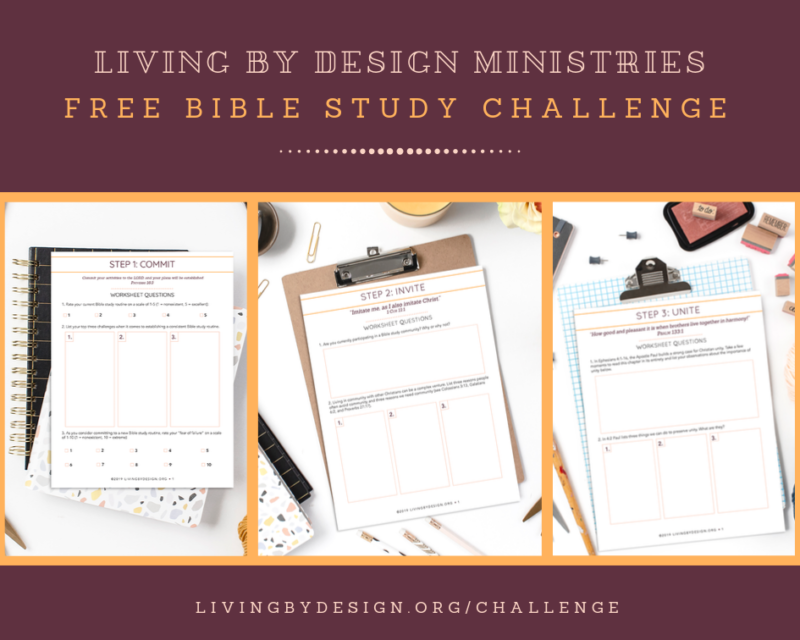 Free Bible Study Challenge from Living by Design Ministries