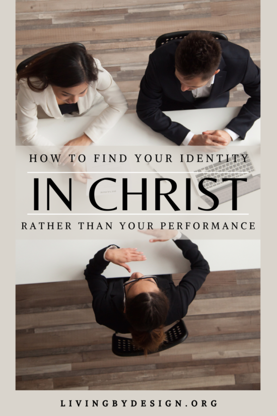 Are you tired and worn out from trying to meet the performance expectations of others or yourself? You may be finding your identity more in what you do rather than whose you are. I encourage you to bring this to God in prayer and the reading of God's word daily. Only through walking closely with Him and finding your true identity in Him can you feel the freedom from finding your identity in your performance or accomplishments.