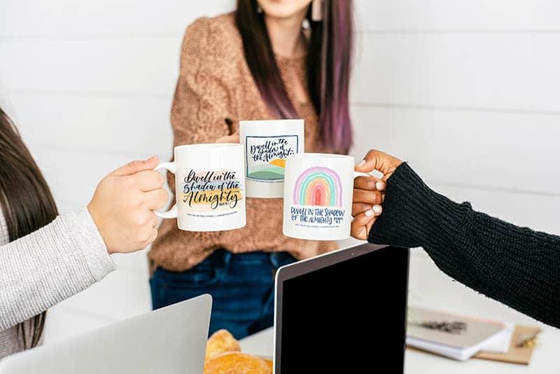 Beautifully designed inspirational coffee mugs by Neely Beattie