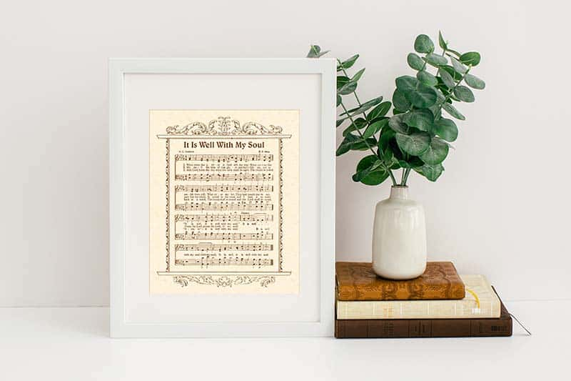 Mockup of hymn-inspired printables included in the free Bible study