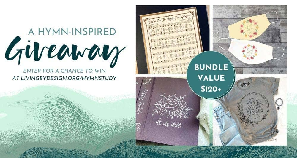 A hymn inspired giveaway