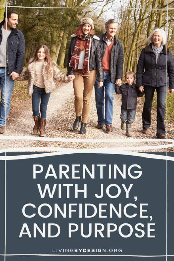 Parenting is a big job! But we can do it with joy, confidence, and purpose when we seek God daily and let Him take care of the results.
