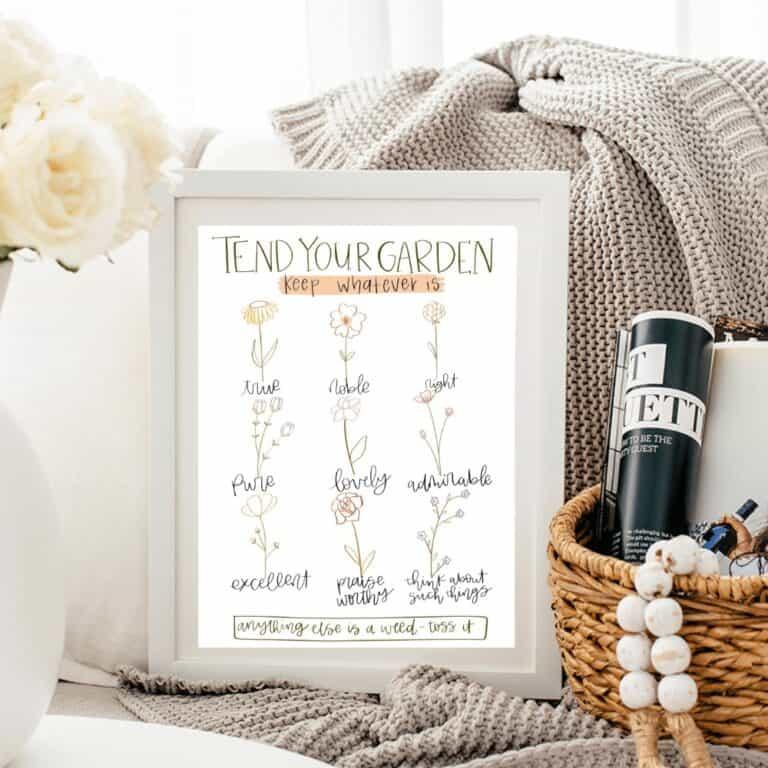 Free JoyFULL Bible Study Tend Your Garden Printable Art
