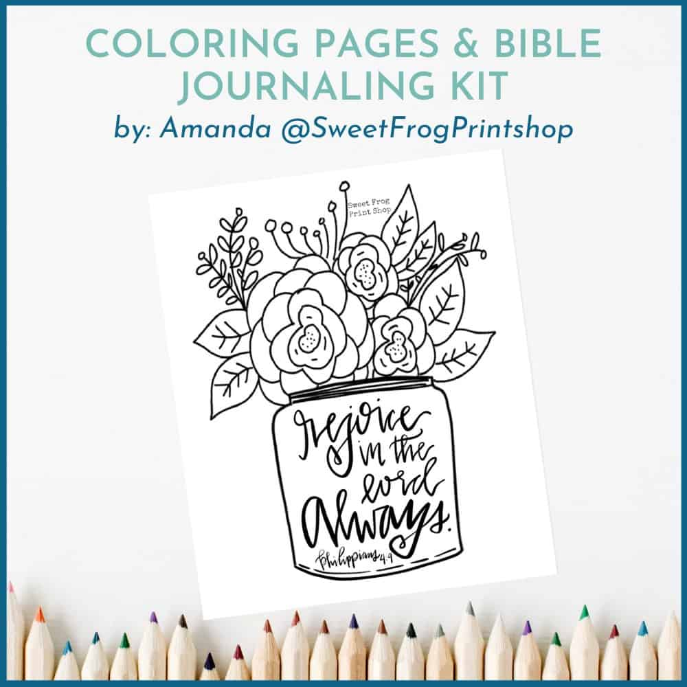 Free Philippians Study Coloring Pages and Bible Journaling Kit Free Gifts