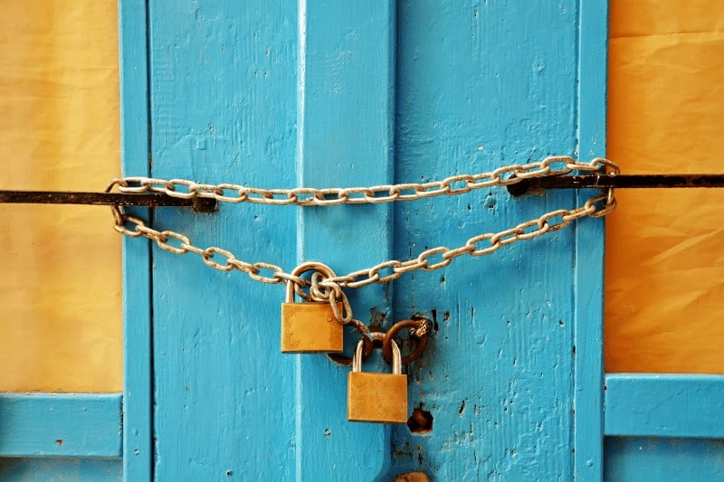 locked blue and yellow door  | how NOT to be passive about your purpose