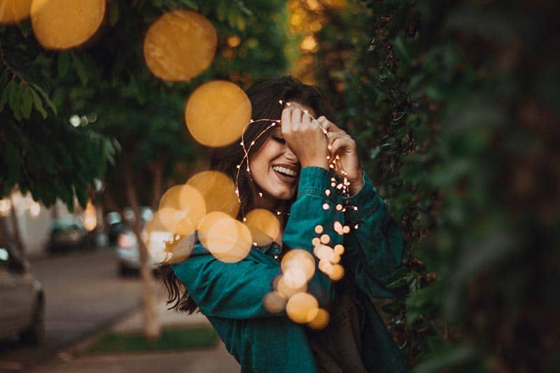 woman outdoor greenery lighting | god sees