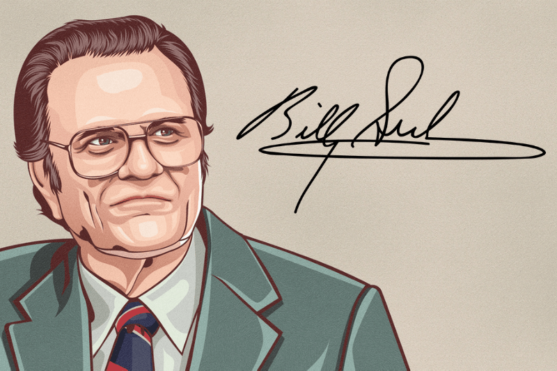 Drawing and Signature of Billy Graham