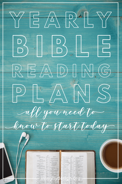yearly bible reading plan