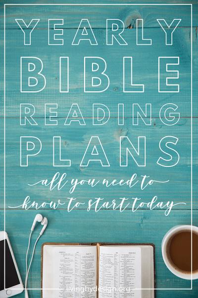 yearly bible reading plan